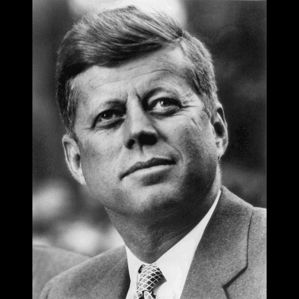 John F. Kennedy (JFK), President of the United States.