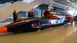 BLOODHOUND SSC, supersonic car powered by both a jet engine and a rocket.