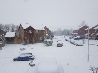 Snow in Faversham, Kent 28 Feb 2018 (Antony Hook)