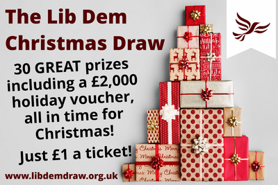 Lib Dem Christmas Draw Graphic