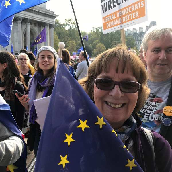 Margaret Rees at People's Vote March October 2018