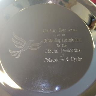 the Mary Done Award for an Outstanding Contribution to the Liberal Democrats in Folkestone & Hythe