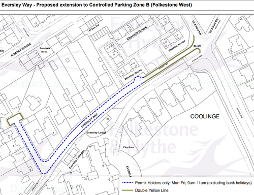 Eversley Way CPZ extension proposal map ()