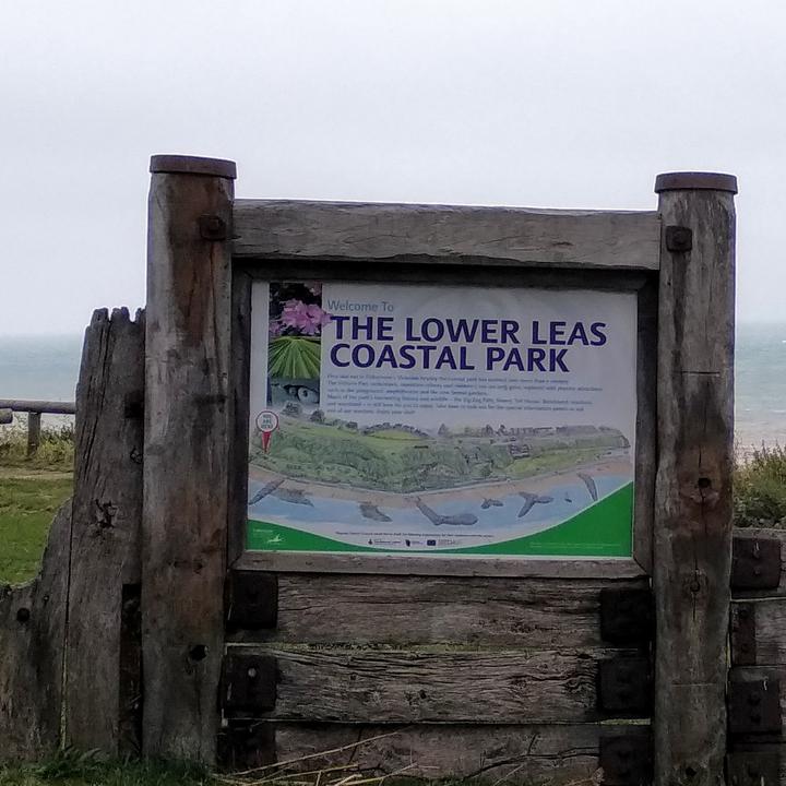 Lower Leas Coastal Park Sign