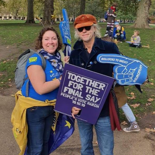 Danielle Anson and Bob Geldof at People's Vote March