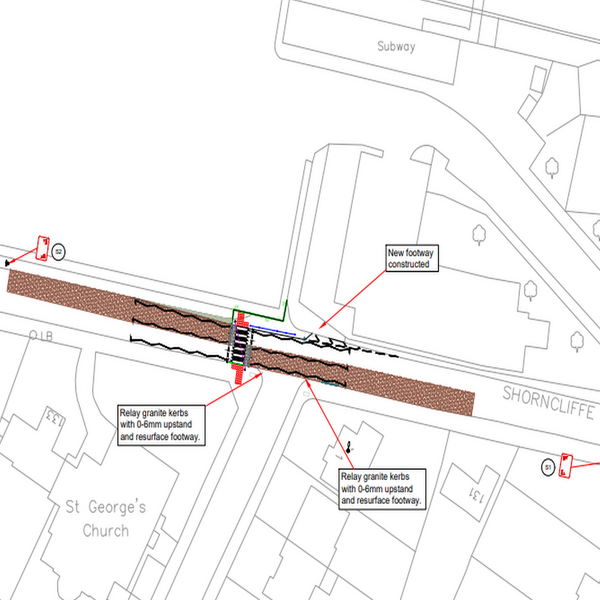 Shorncliffe Road Crossing plan
