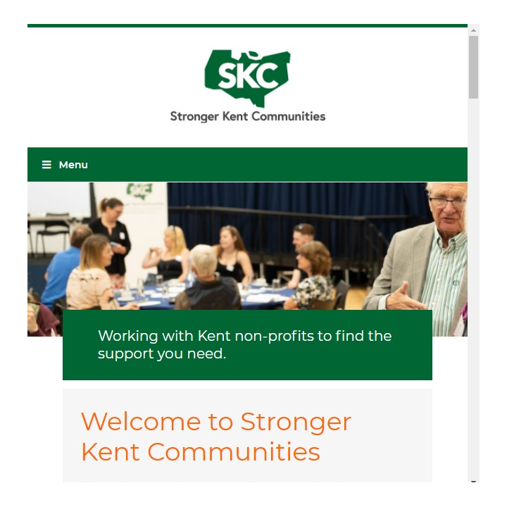 Stronger Kent Communities website screenshot