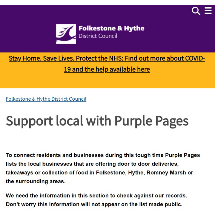 Purple Pages screenshot